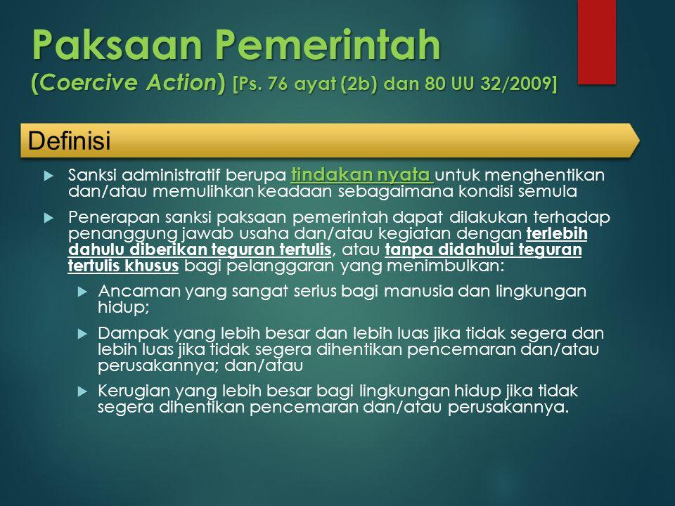 Paksaan Pemerintah (Coercive Action) [Ps